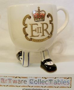 Carlton Ware Walking Ware Queen's Silver Jubilee Kneeling Cup 1977 - SOLD